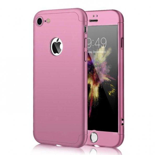 Apple iPhone 6 6S 360 Rose Gold Full Koruma Kılıf Arka Koruyucu Kapak