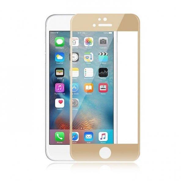 Apple iPhone 6 6S Plus Ekran Koruyucu İnce Gold Cam