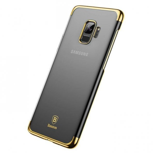 Baseus Glitter Samsung Galaxy S9 Gold Kılıf Arka Koruyucu Kapak