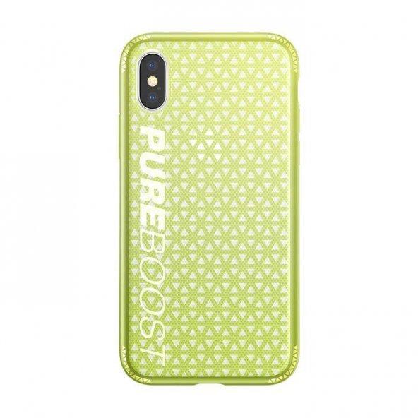 Baseus Parkour iPhone X Yeşil Kılıf Arka Koruyucu Kapak