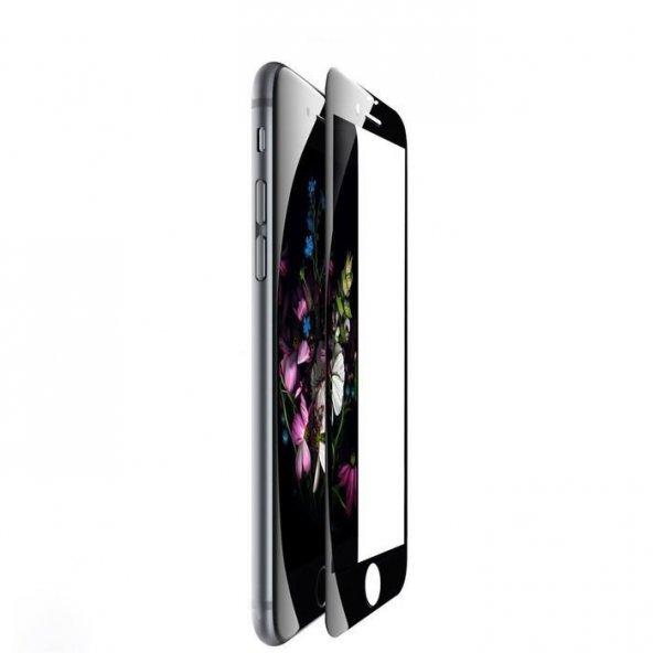 Apple iPhone 6 6S Siyah Ekran Koruyucu Kavisli Cam