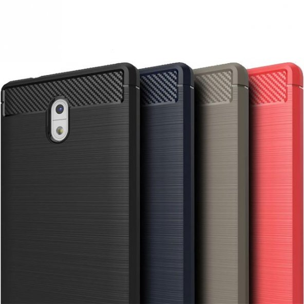 Nokia 3 Kılıf Rush Arka Kapak + Ekran Koruyucu Temperli Cam