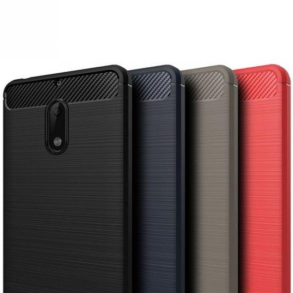 Nokia 6 Kılıf Rush Arka Kapak + Ekran Koruyucu Temperli Cam