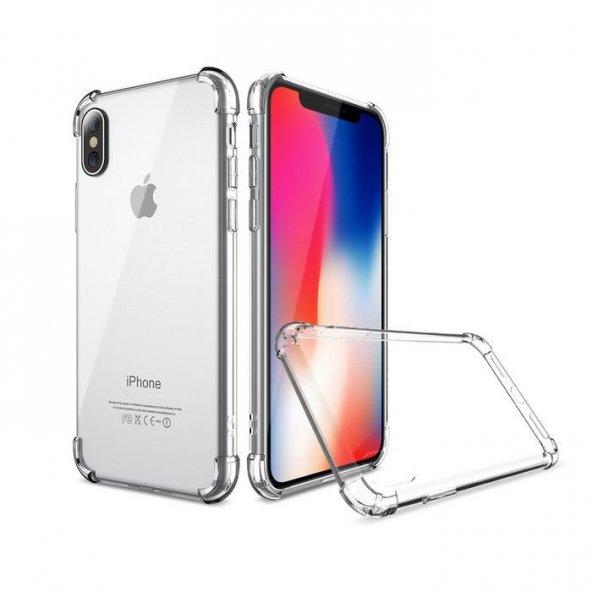 Apple iPhone X Shield Şeffaf Kılıf Arka Koruyucu Kapak