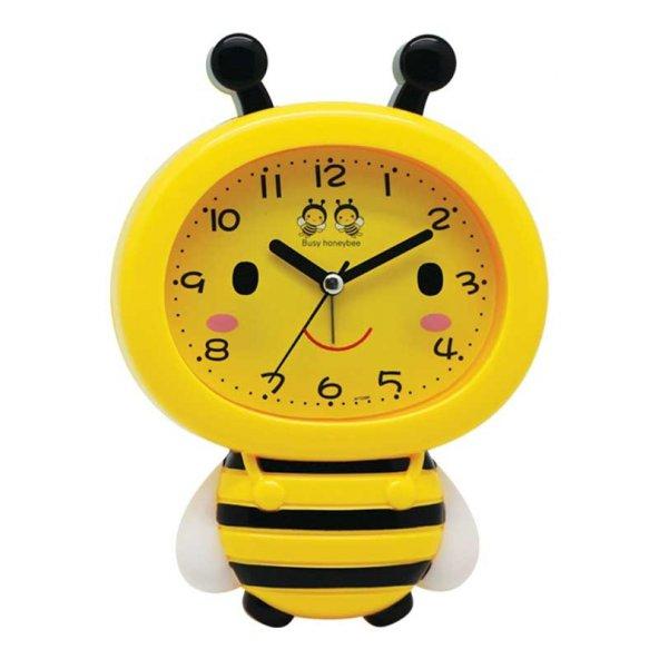 Renkli Arı Maya Çocuk Odası Alarmlı Çalar Masa Saati
