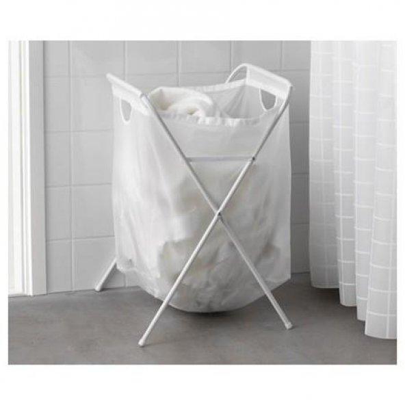 Ikea Çamaşır Sepeti Beyaz Katlanır