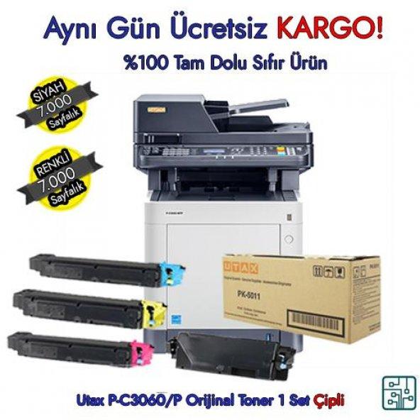 PK-5011 Utax P-C3060/P-C3065mfp Mavi Orijinal Toner 1 Set 7.000