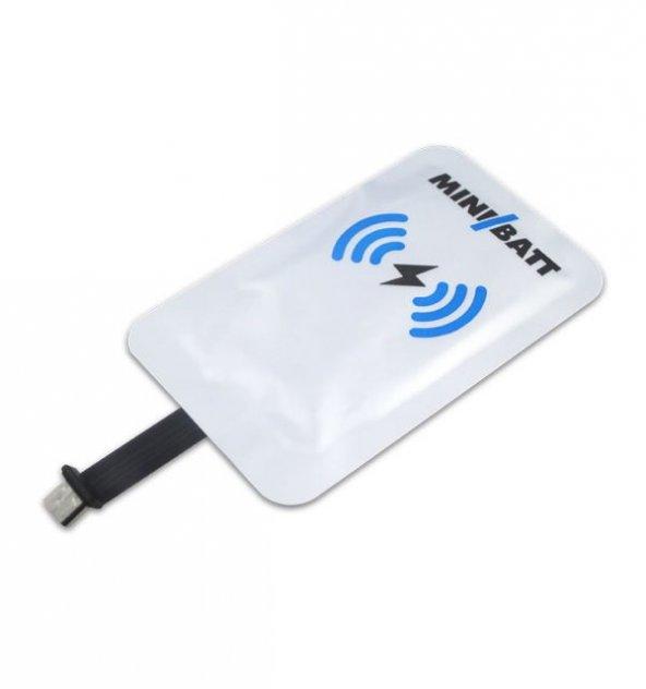 MİCRO USB B – Qİ Kablosuz Şarj Alıcı Etiket