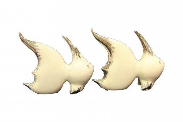 Lucky Art 2 li Beyaz Silver Kedi Balığı Hediyelik