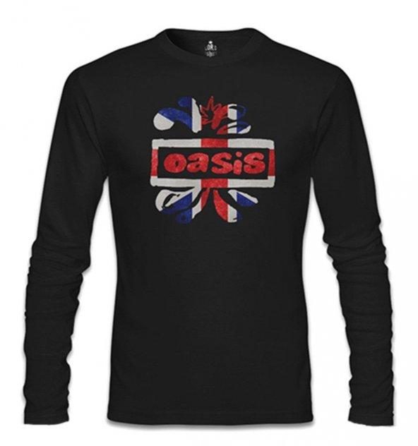 Oasis Logo Siyah Erkek Sweatshirt