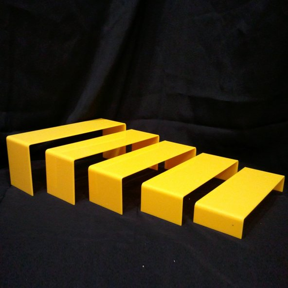 5Li Vitrin Standı Sarı