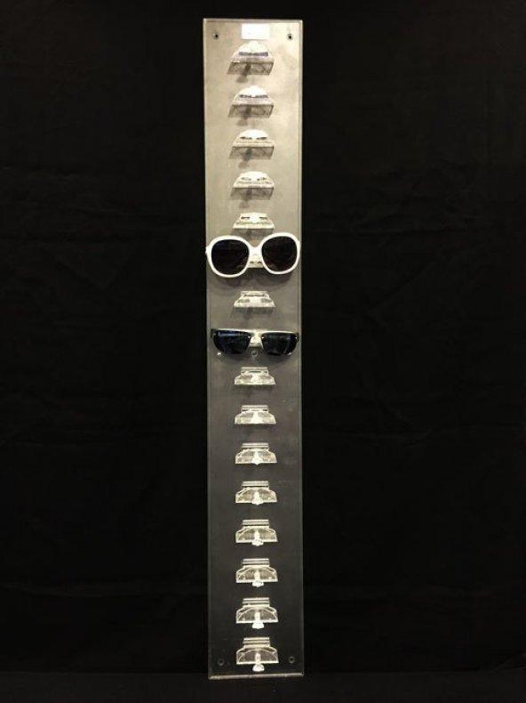 Duvara Monte Akrilik Gözlük Standı Şeffaf