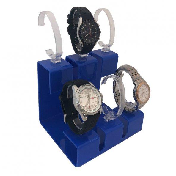 6Lı Set Mavi Saat Standı