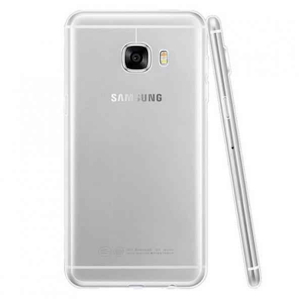Samsung Galaxy C7 (C7000) Silikon Arka Kılıf 0,3mm Şeffaf