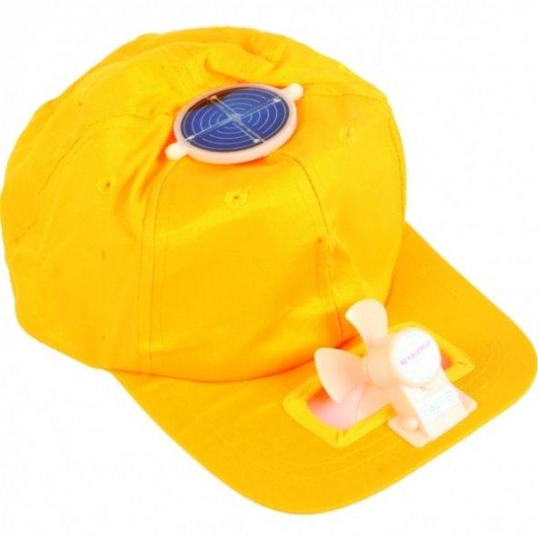 Solar Enerjili Fanlı Şapka Güneş Enerjisi İle Çalışan Serinleten