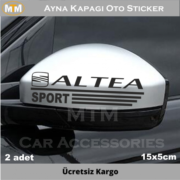 Seat Altea Ayna Kapağı Oto Sticker (2 Adet)