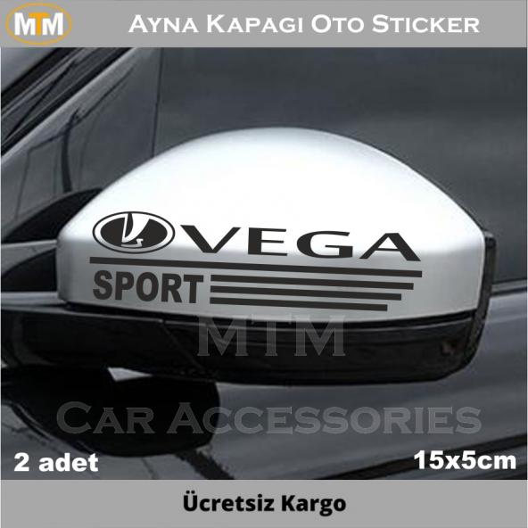Lada Vega Ayna Kapağı Oto Sticker (2 Adet)