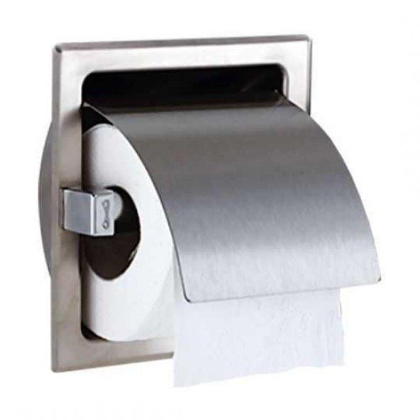 Zethome Paslanmaz Sıva Altı Tekli Tuvalet Kağıtlık
