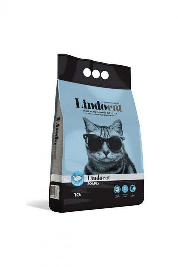 Lindo Cat Topaklaşan Sabunlu İnce Taneli Kedi Kumu 10 LT