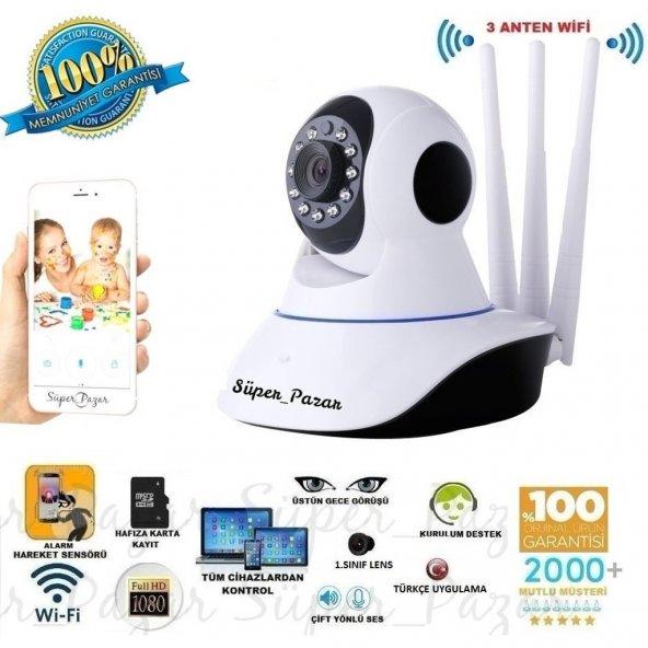 HD 360º Wifi İp Kamera Gece Görüş Güvenlik ve Bebek İzleme Kamera