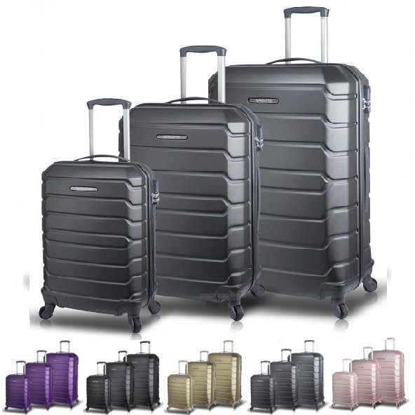 Ground Calanthe Abs Lux 3lu Bavul Valiz Seti (Kabin+Orta+Buyuk)