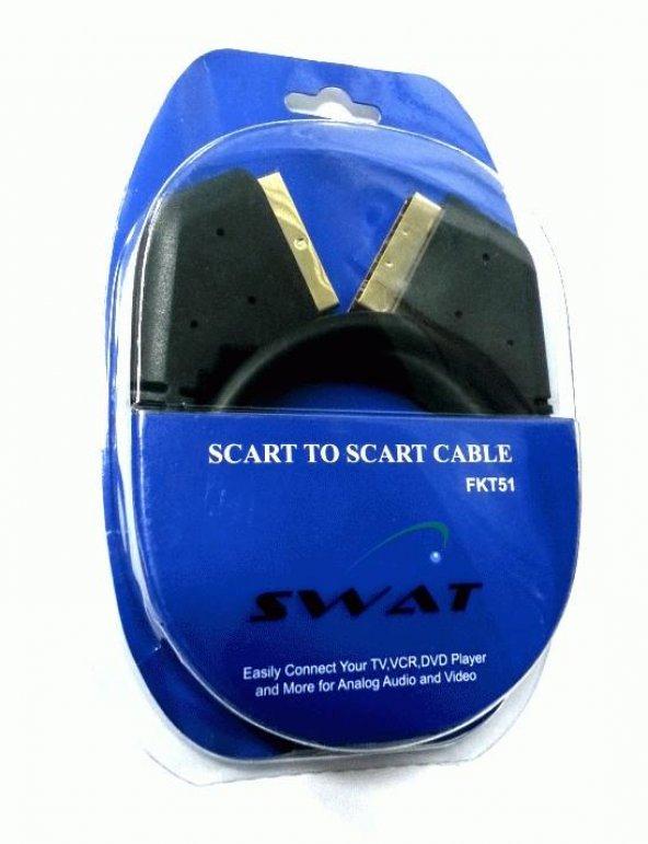 SWAT Scart Kablo Gold Altın Uçlu 1.3mt - Kargo Ücretsiz