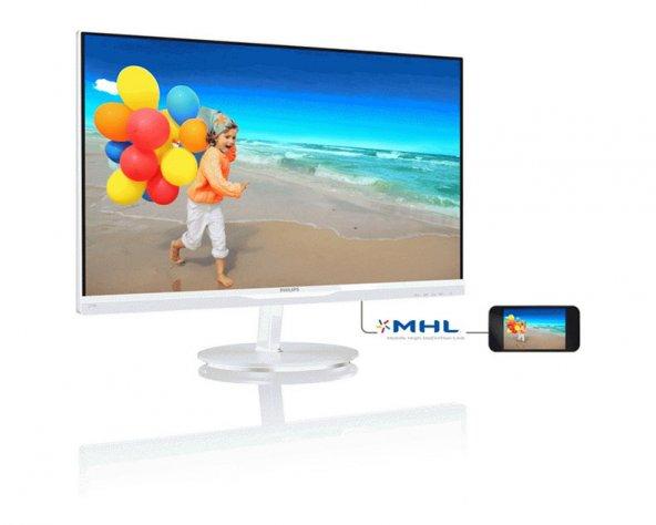"PHILIPS 274E5QHAW/00-27"" WLED/AHIPS/HDMI/MHL Beyaz"