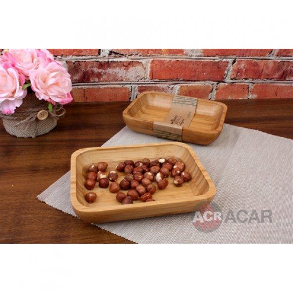 Acar Bambu Kahvaltı-Çerez Tabagı
