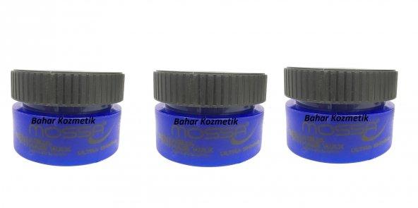 Mossa Men Style Aqua Hair Wax Ultra Shınıng Mavi 150 ml 3 Adet