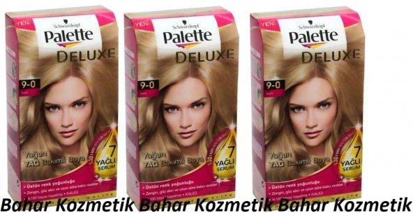 Palette Deluxe Kit Saç Boyası 9-0 Sarı 3 Adet