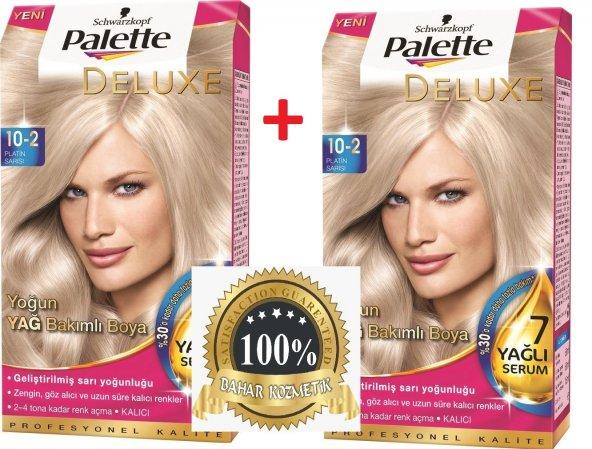 Palette Deluxe 102 Platin Sarısı Saç Boyası 2 Adet Epttavm