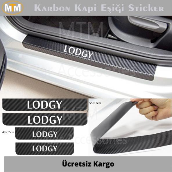 Dacıa Lodgy Karbon Kapı Eşiği Sticker (4 Adet)