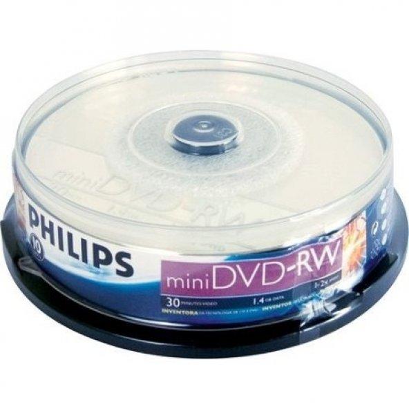 Philips 1,4 GB 10 lu Paket Tekrar Yazılabilir Mini Kamera Dvd si