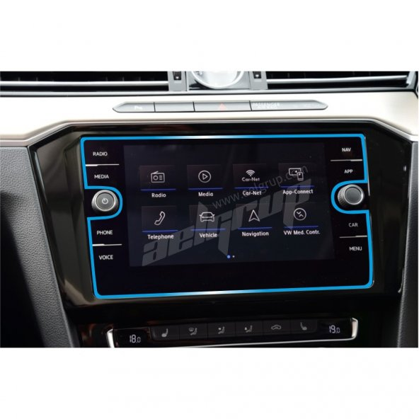 Volkswagen Passat B8 Multimedya Ekran Koruyucu Cam