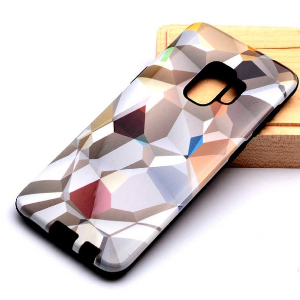 Samsung Galaxy S9 Kılıf Piramit Silikon Kapak-Kahverengi