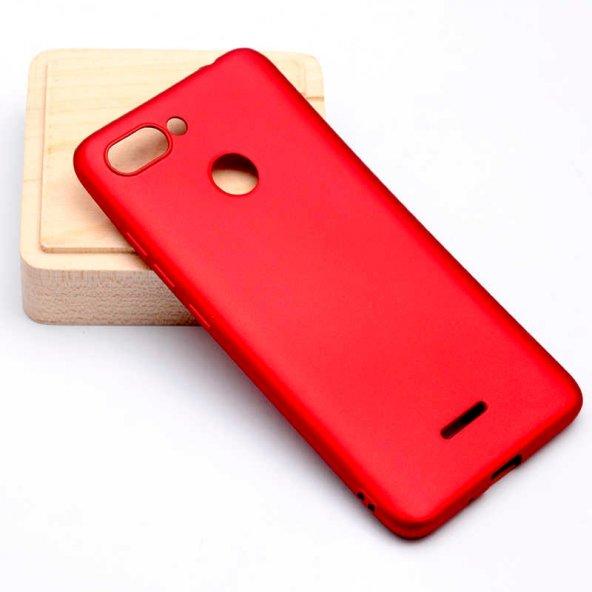Xiaomi Redmi 6 Kılıf Premier Silikon Kapak-Kırmızı