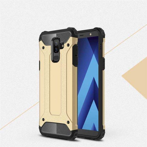 Galaxy A6 Plus 2018 Kılıf Crash Silikon kapak-Gold