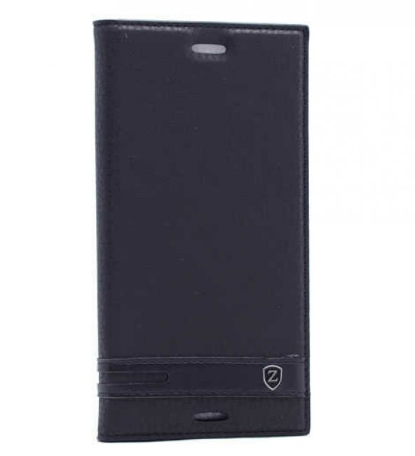 Sony Xperia XZ Premium Kılıf Elite Kapaklı Kılıf Siyah