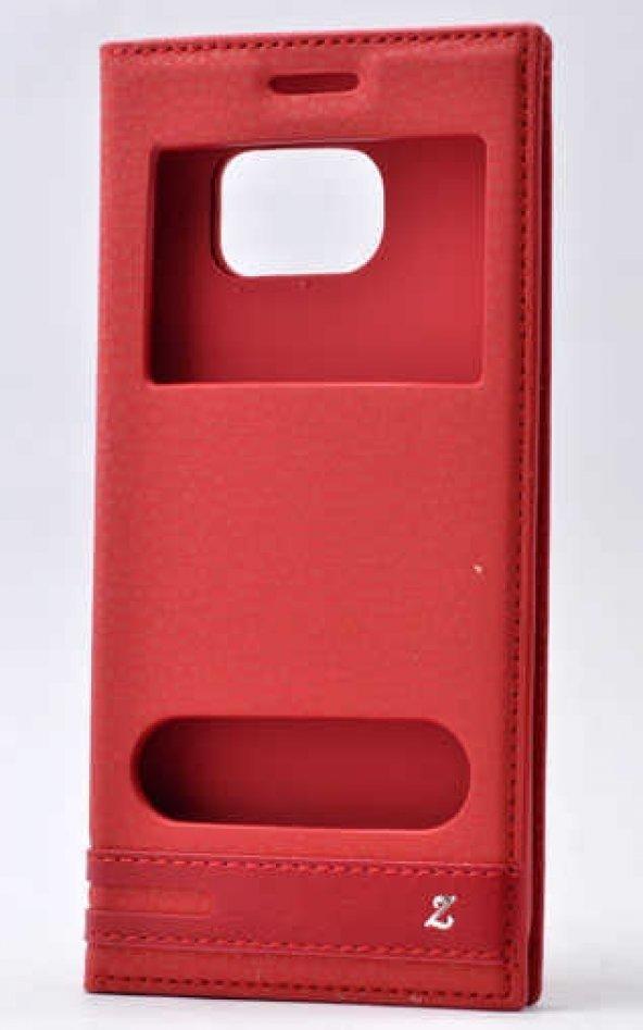 Samsung Galaxy S7 Edge Kılıf Elite Kapaklı Kılıf Kırmızı