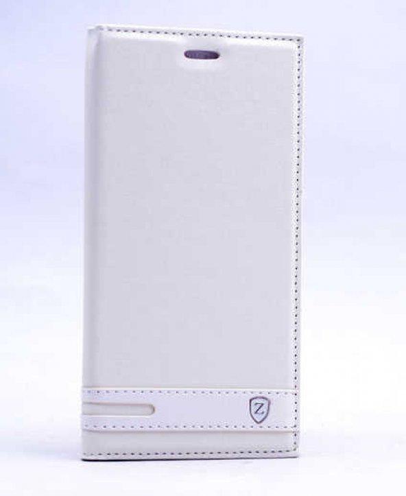 Nokia 5 Kılıf Elite Kapaklı Kılıf Beyaz