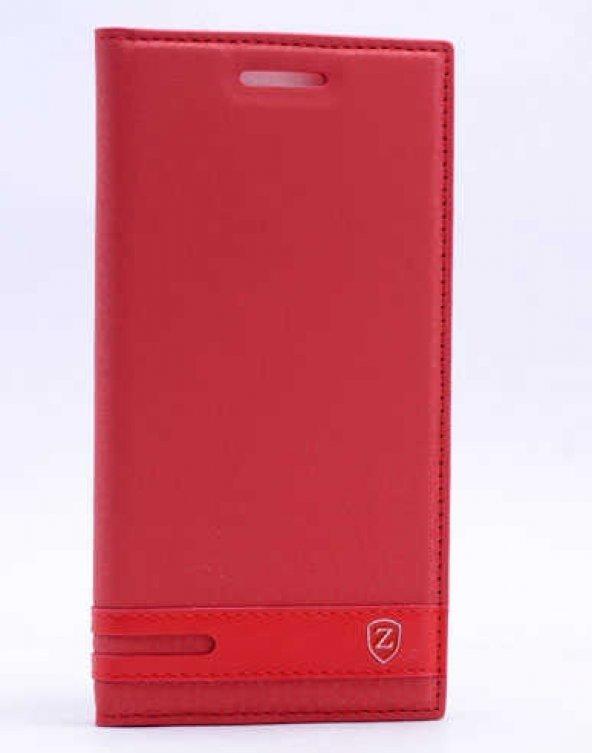 Lenovo Vibe S1 Lite Kılıf Elite Kapaklı Kılıf Kırmızı