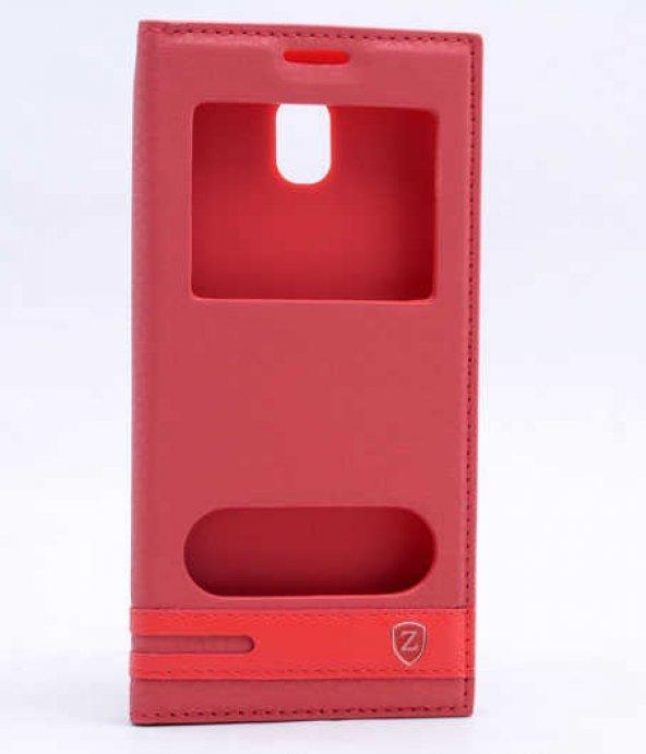 Samsung Galaxy J530 Pro Kılıf Elite Kapaklı Kılıf Kırmızı
