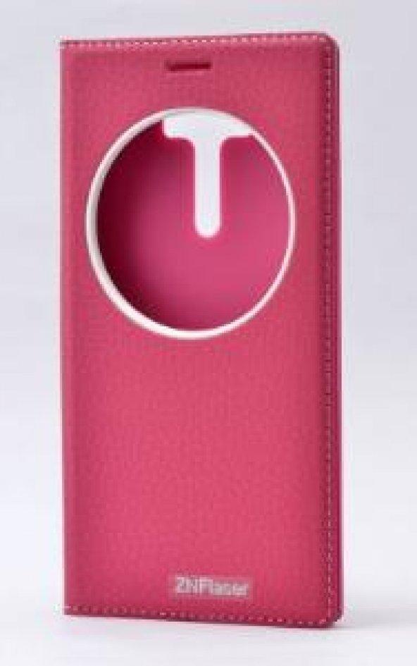 Asus Zenfone 2 Laser ZE550KL Kılıf Dolce Case kapaklı koyu pembe