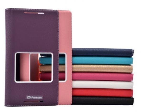 Sony Xperia Z5 Premium Kılıf Dolce Case kapaklı