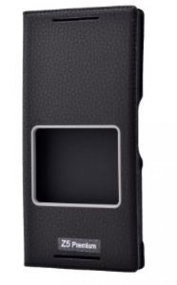 Sony Xperia Z5 Premium Kılıf Dolce Case kapaklı siyah