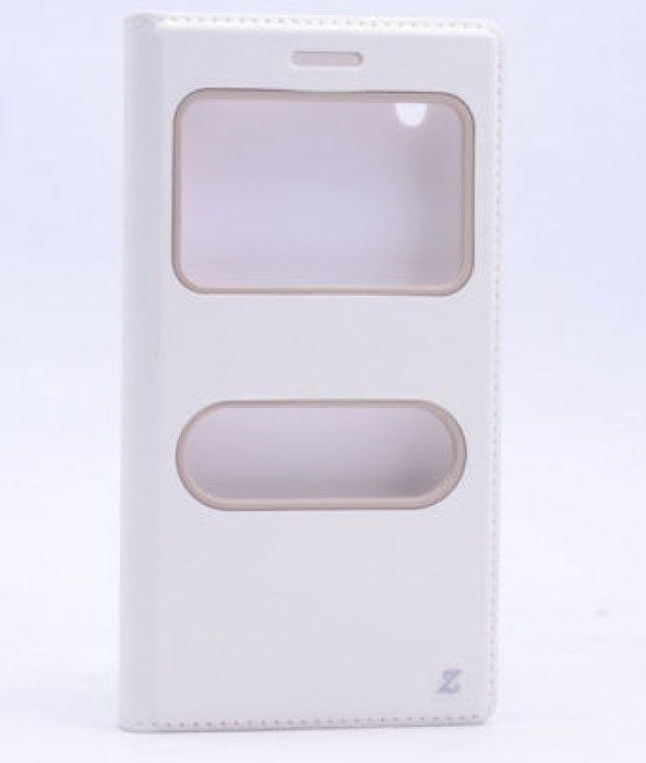 Vestel Venüs 5000 Kılıf Dolce Case kapaklı beyaz