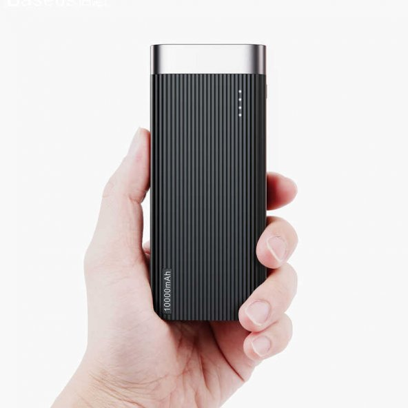 Baseus Parallel Powerbank 10000MAH Taşınabilir Şarj Cihazı-Siyah