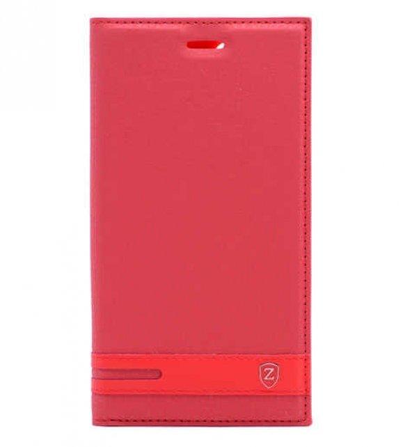 Samsung Galaxy A8 2018 Kılıf Elite Kapaklı Kılıf kırmızı