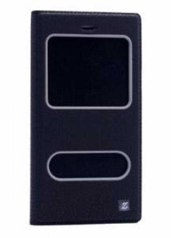 Huawei P9 Lite Kılıf Dolce Case kapaklı siyah