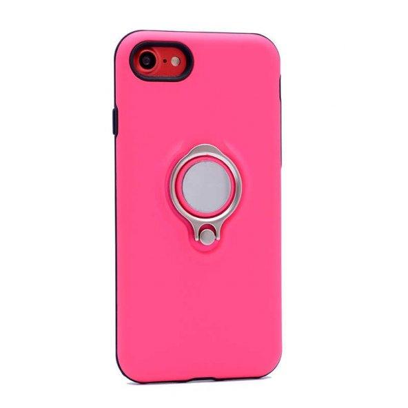 Apple iPhone 7 Kılıf Ring Youyou Kapak Pembe